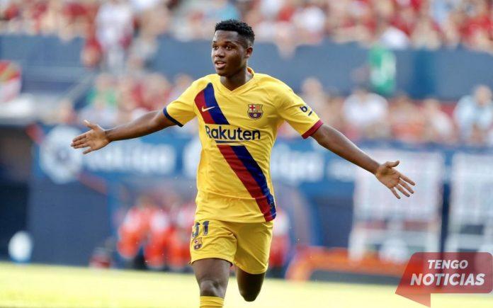 El adolescente del Barça, Ansu, se prepara para la convocatoria de España 1