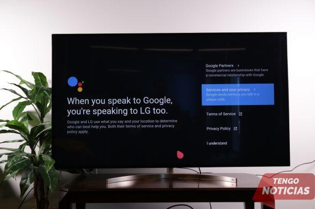 Como configurar control por voz de tu Smart TV LG 3
