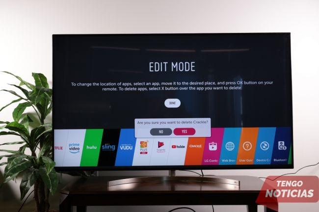 Como eliminar aplicaciones Smart TV LG 3