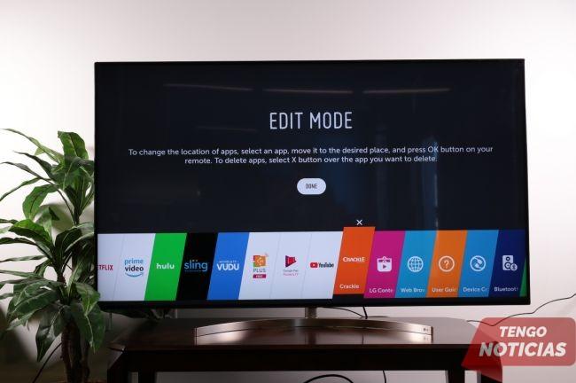 Como eliminar aplicaciones Smart TV LG 1