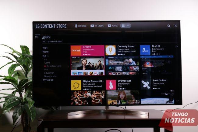 Como instalar aplicaciones Smart TV LG 4