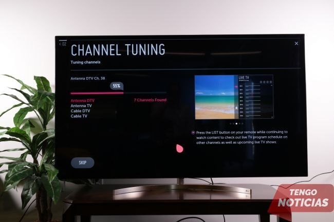 Cómo configurar / sintonizar canales en tu Smart TV LG 4