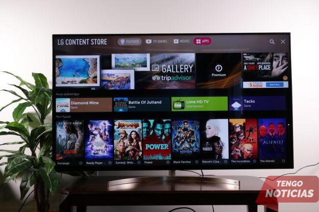 Como instalar aplicaciones Smart TV LG 3