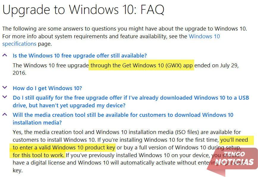 Como actualizar gratis a Windows 10 3