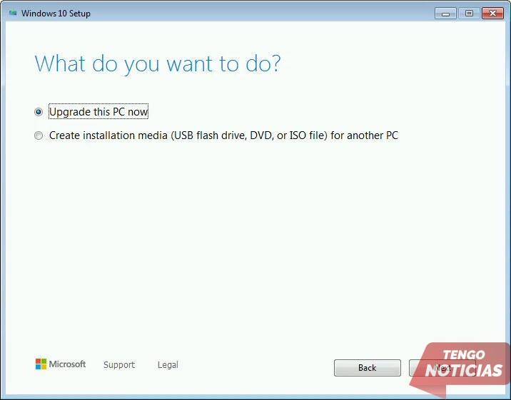 Como actualizar gratis a Windows 10 2