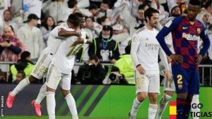 El Real Madrid venció al Barcelona, líder de la Liga en el segundo Clásico de la temporada