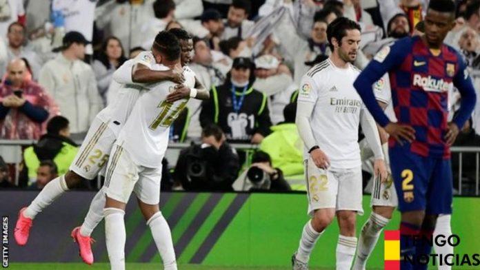 El Real Madrid venció al Barcelona, líder de la Liga en el segundo Clásico de la temporada 1