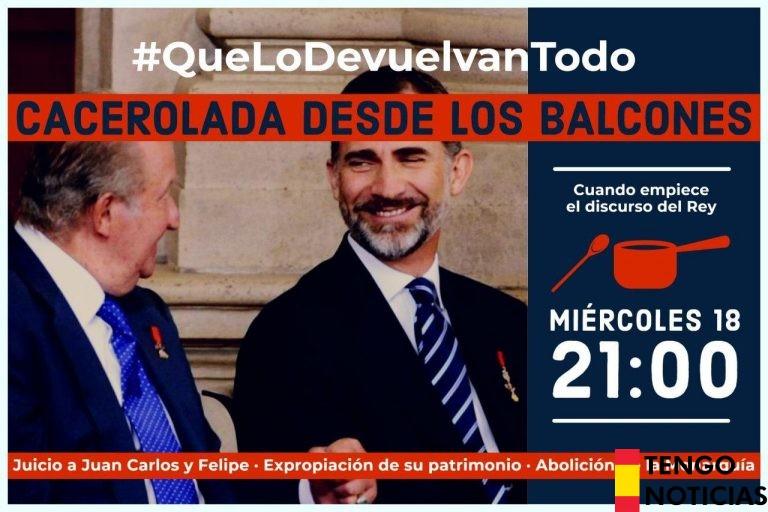 Podemos Andalucía organiza una cacelorada contra el discurso del Rey Felipe VI