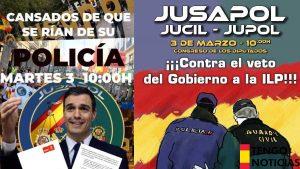 Jusapol se manifestará contra el presidente Sánchez «Nos ha traicionado»