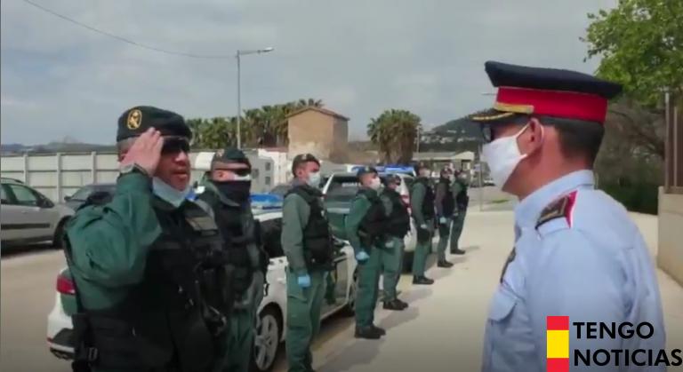 VÍDEO: Emotivo homenaje de la Guardia Civil a los Mossos por su compañero fallecido