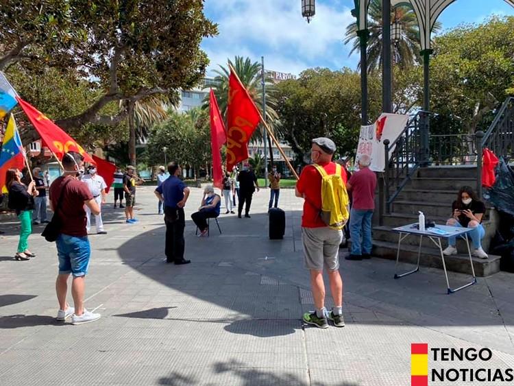 FOTOS: Fracaso de una manifestación comunista en Las Palmas de Gran Canaria 2