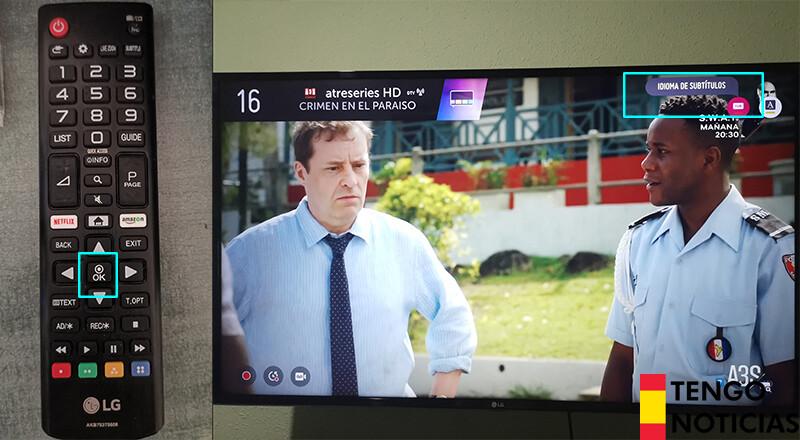como activar subtitulos tv lg