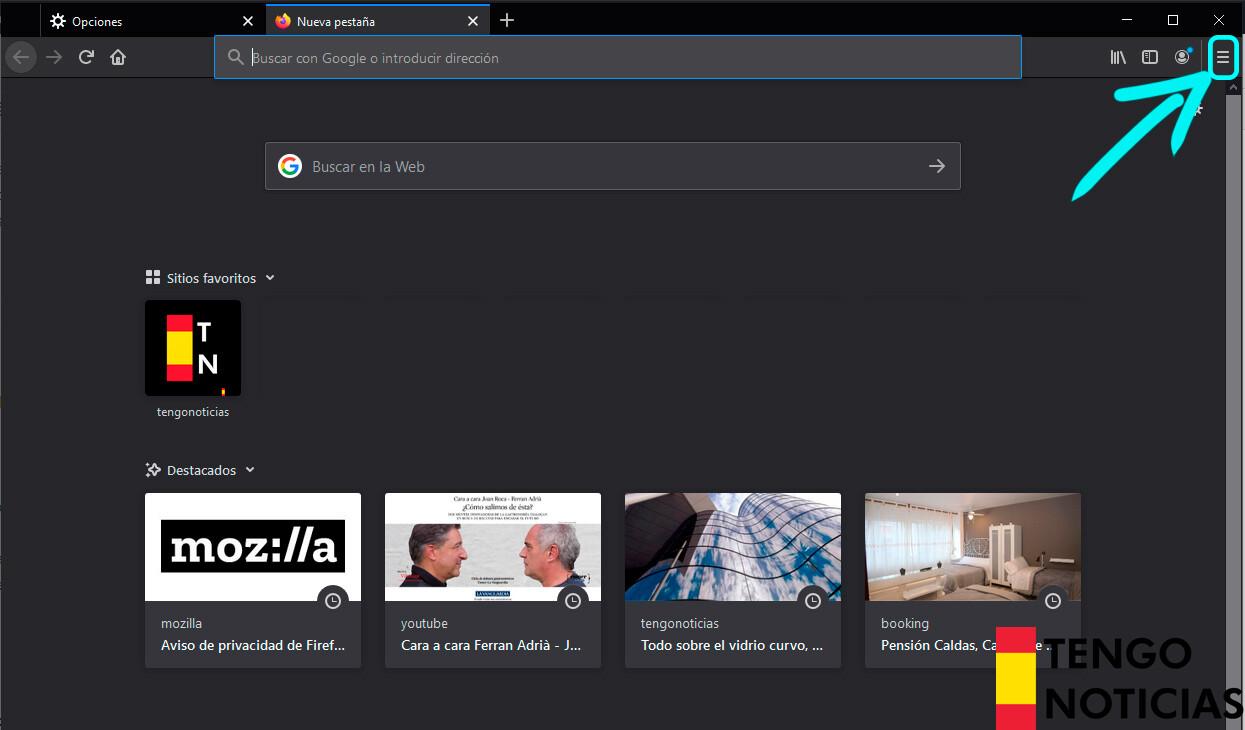 Cómo restablecer Firefox 1