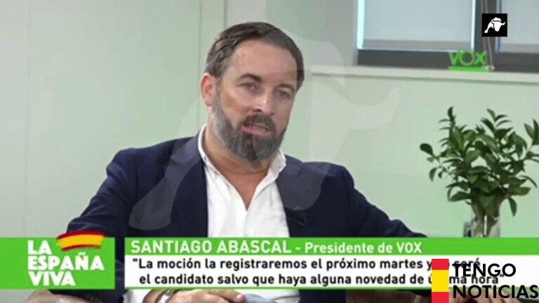 Vox lanzara su moción de censura contra Sánchez este martes