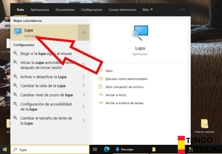 Como hacer zoom en windows