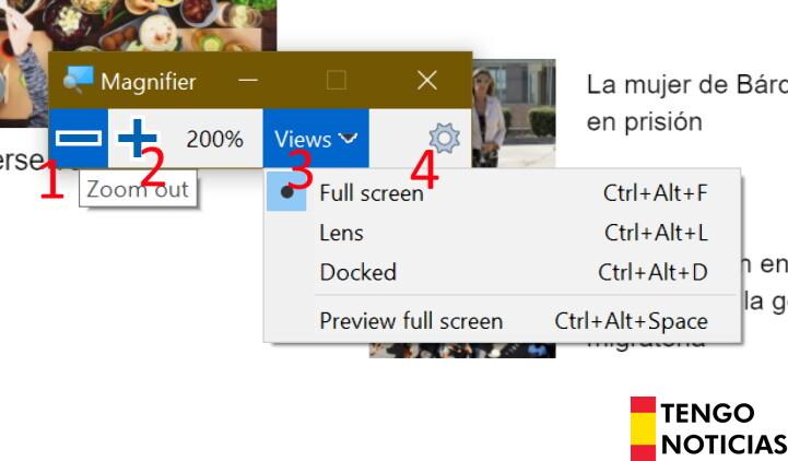 Como hacer zoom en windows 2