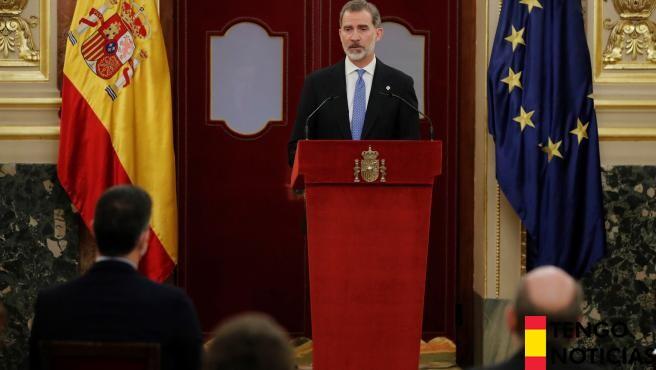 El Rey pone en valor el papel de Juan Carlos I en el 40 aniversario del 23F 1